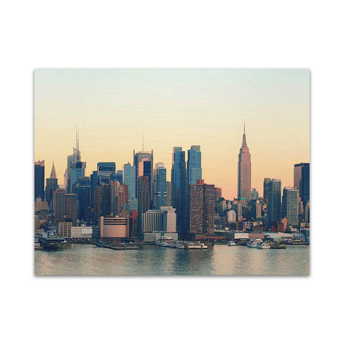 New York skyline op dibond