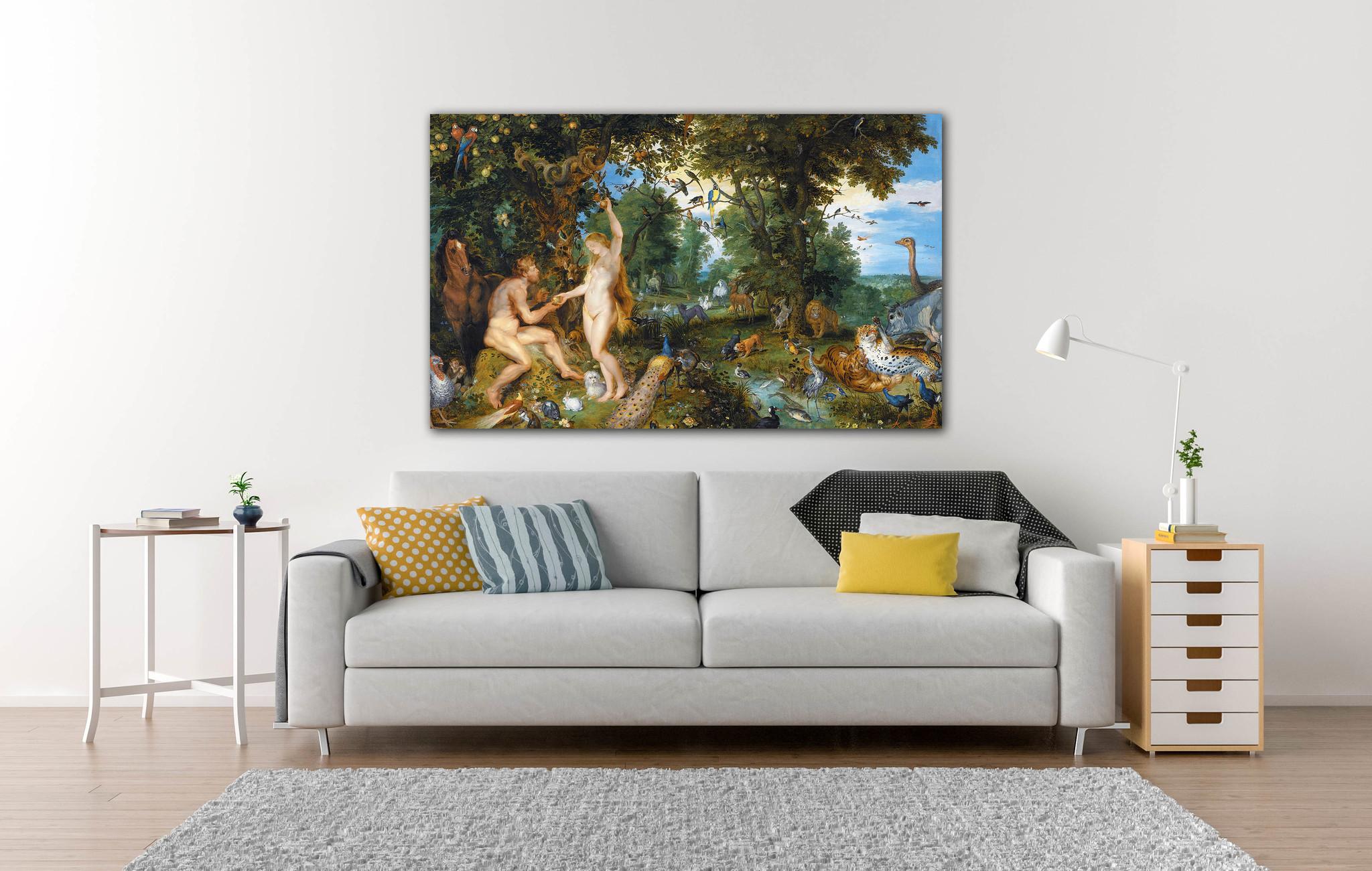 Garden of Eden op Textieldoek