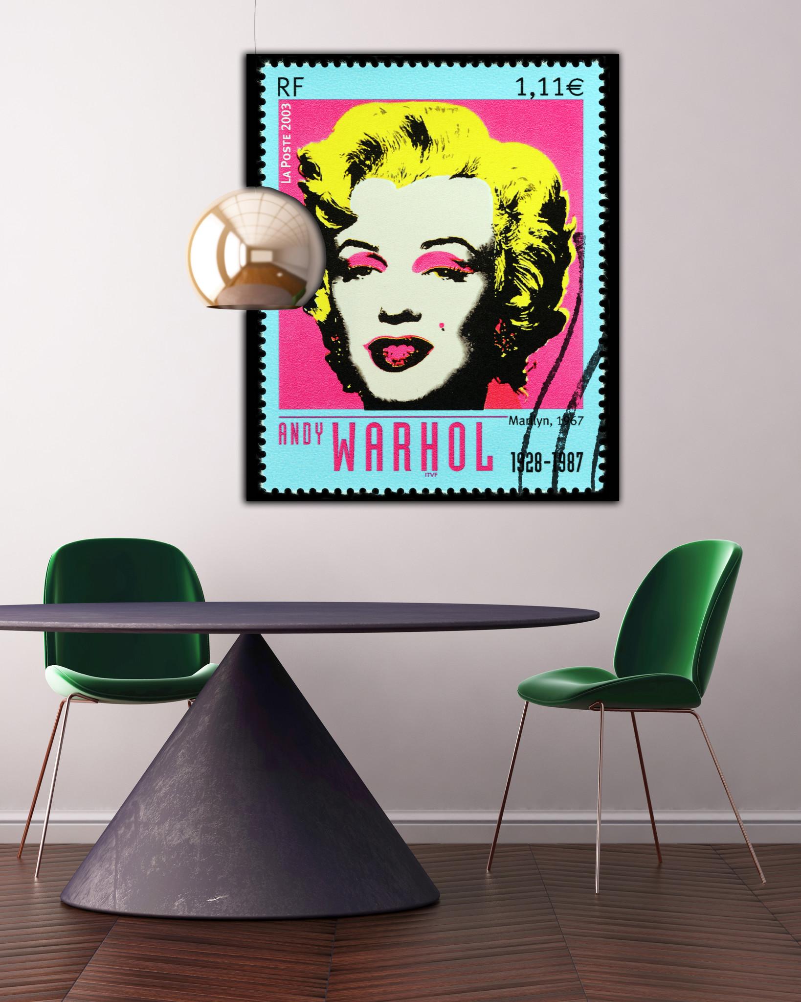 Marilyn Stamp - Andy Warhol op Textieldoek