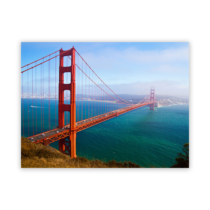 Golden Gate Bridge op plexiglas
