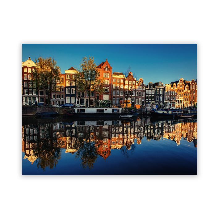 Grachten panden, Amsterdam