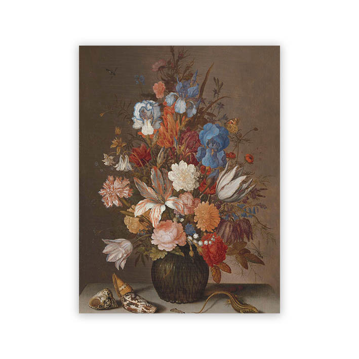 Stilleven met bloemen - van der Arst op dibond