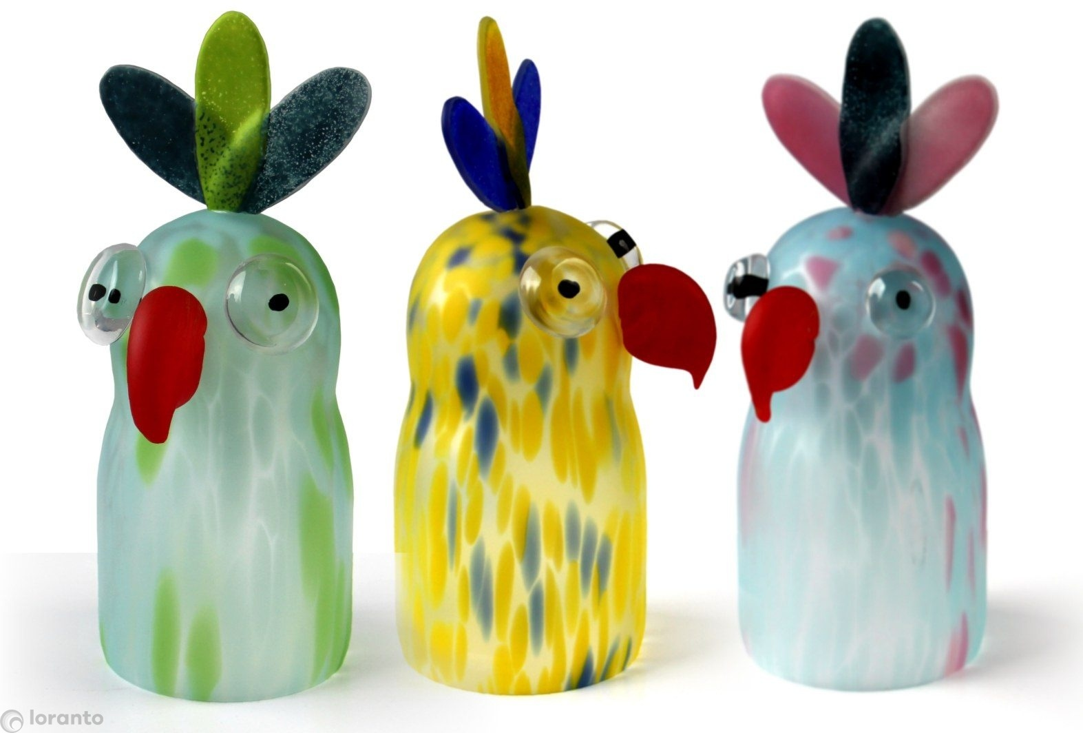 Handgemaakte glazen Papegaai