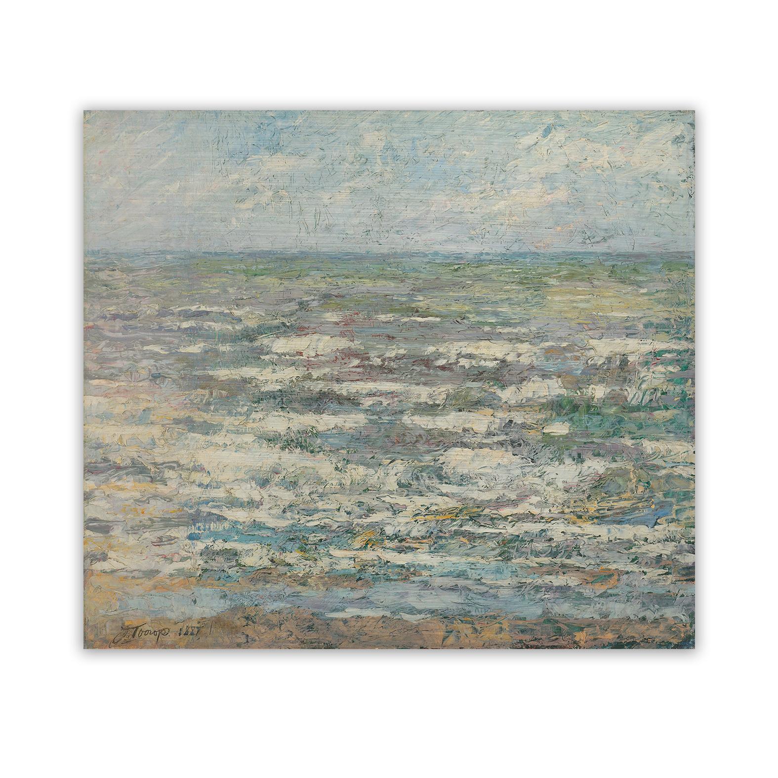 De zee op dibond