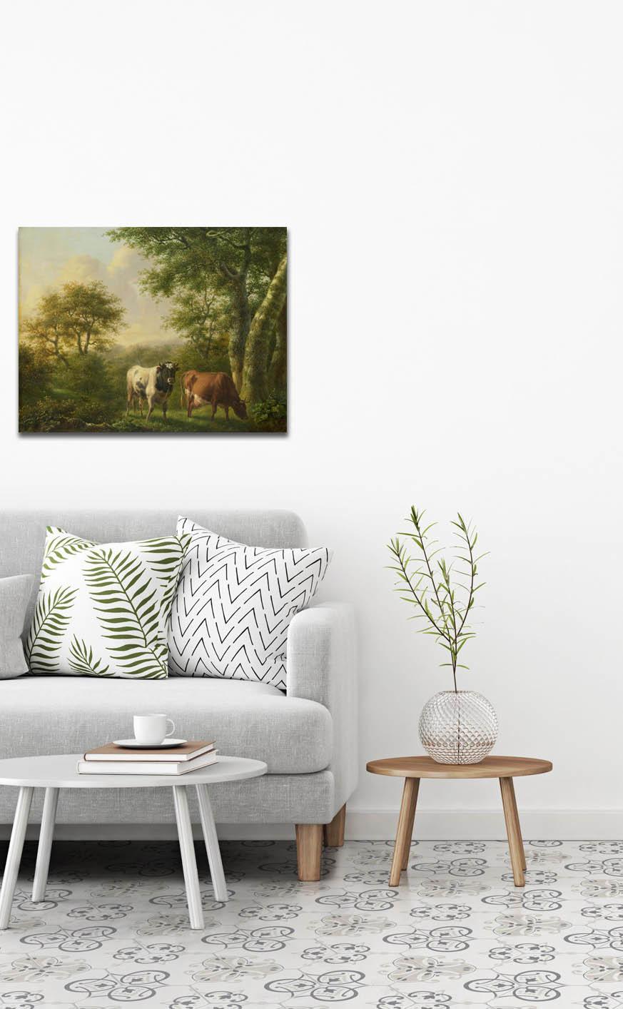 Landschap met vee op Plexiglas