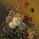 Stilleven met bloemen - Van Os op Textieldoek
