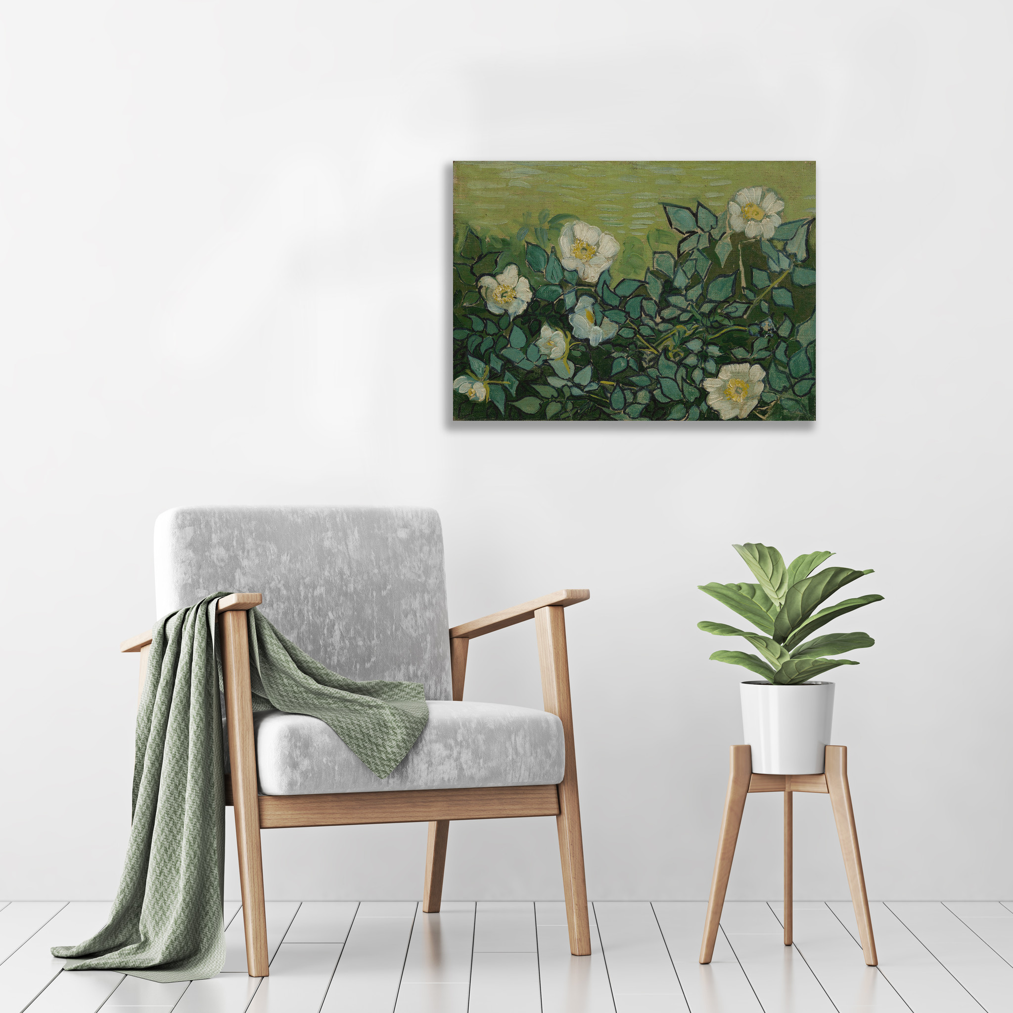 Wilde Rozen - Van Gogh - op Plexiglas