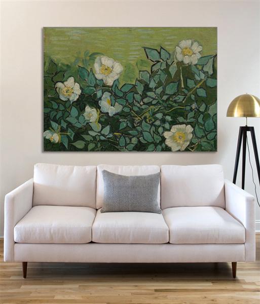 Wilde Rozen - Van Gogh op Textieldoek