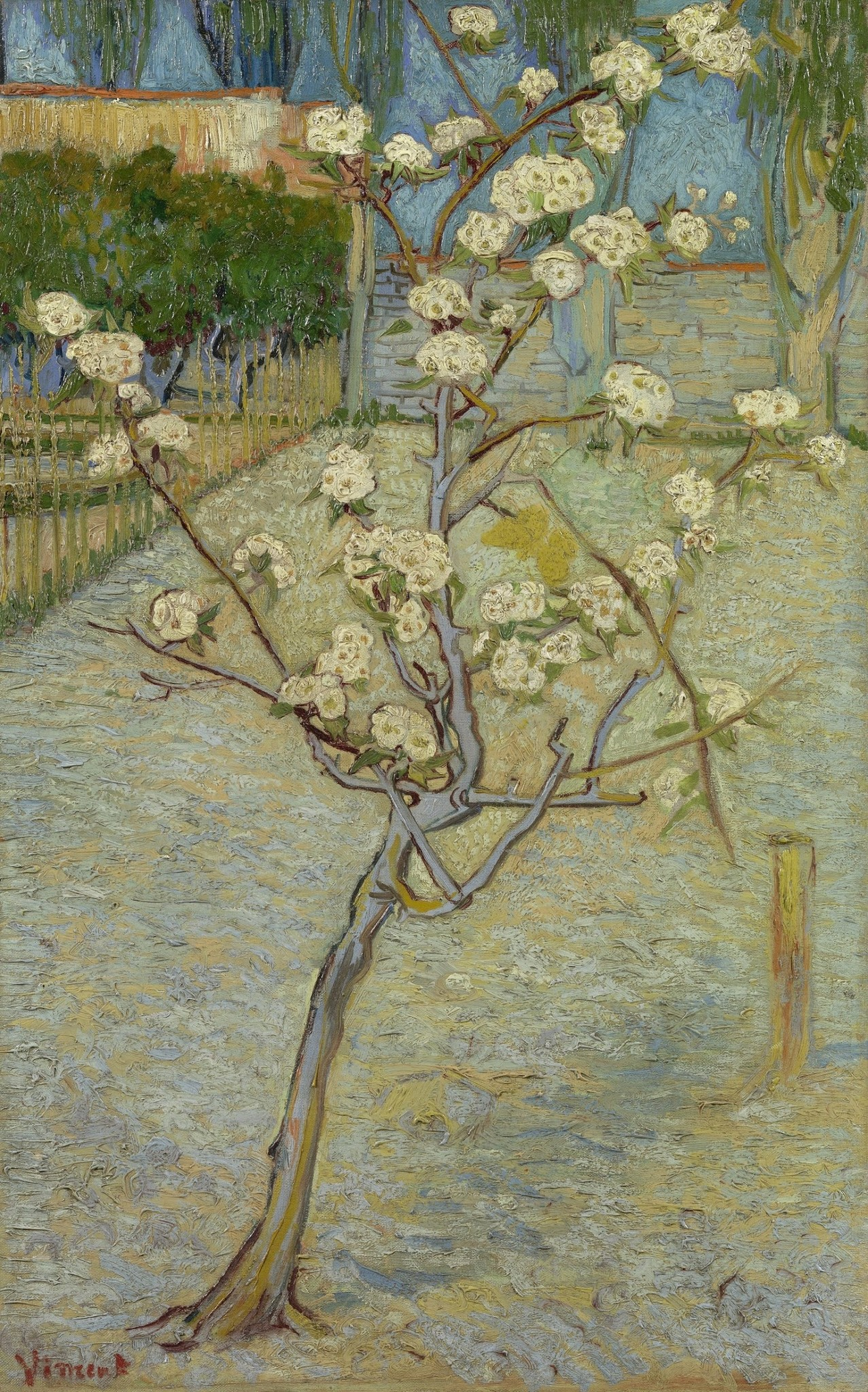 Perenboompje in bloei - Van Gogh - op Textieldoek
