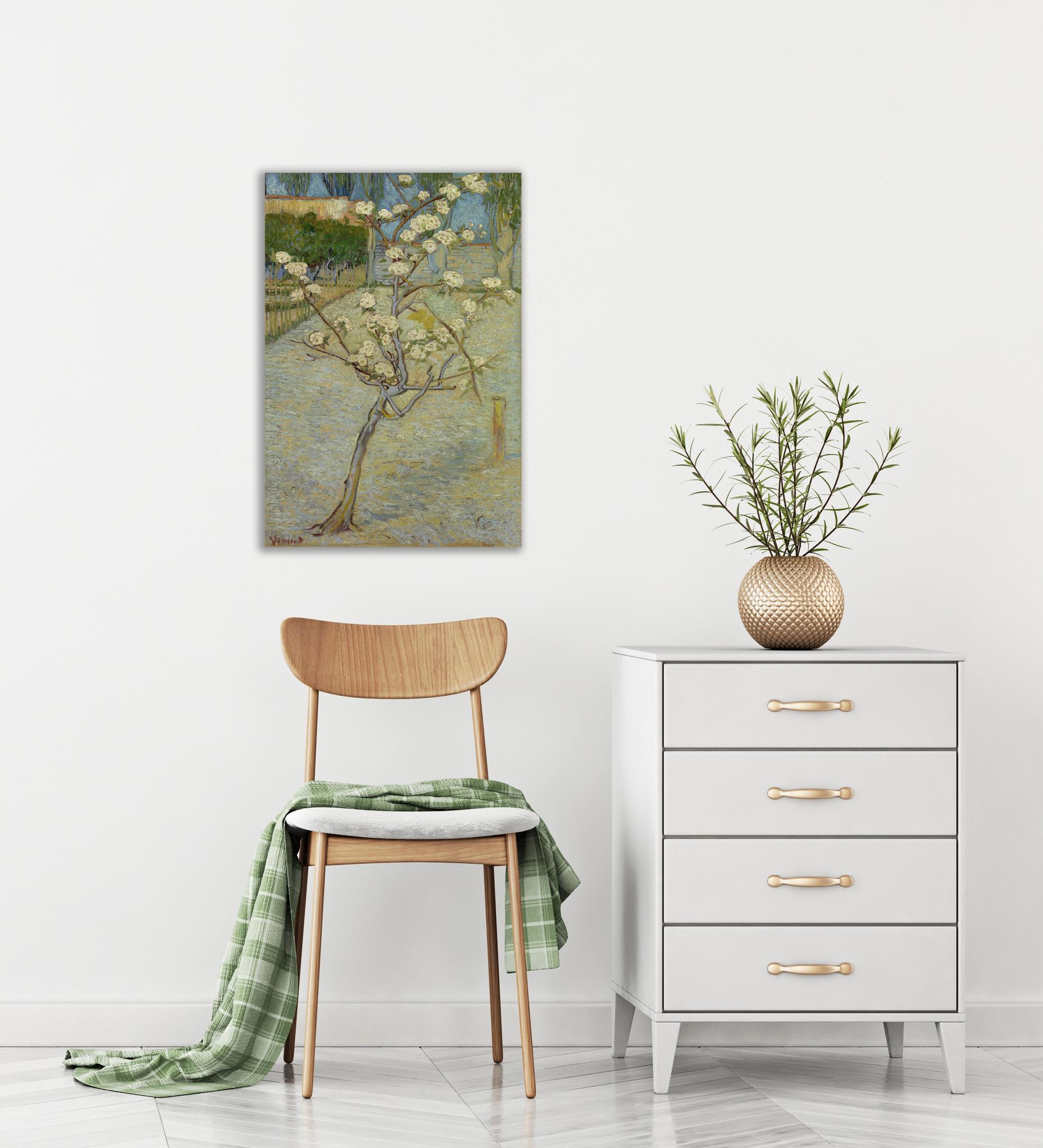 Perenboompje in bloei - Van Gogh - op Plexiglas