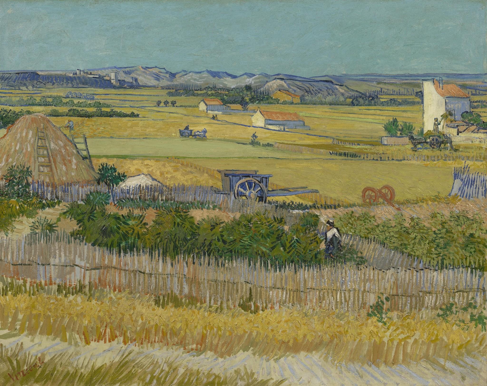 De Oogst - Van Gogh op Textieldoek