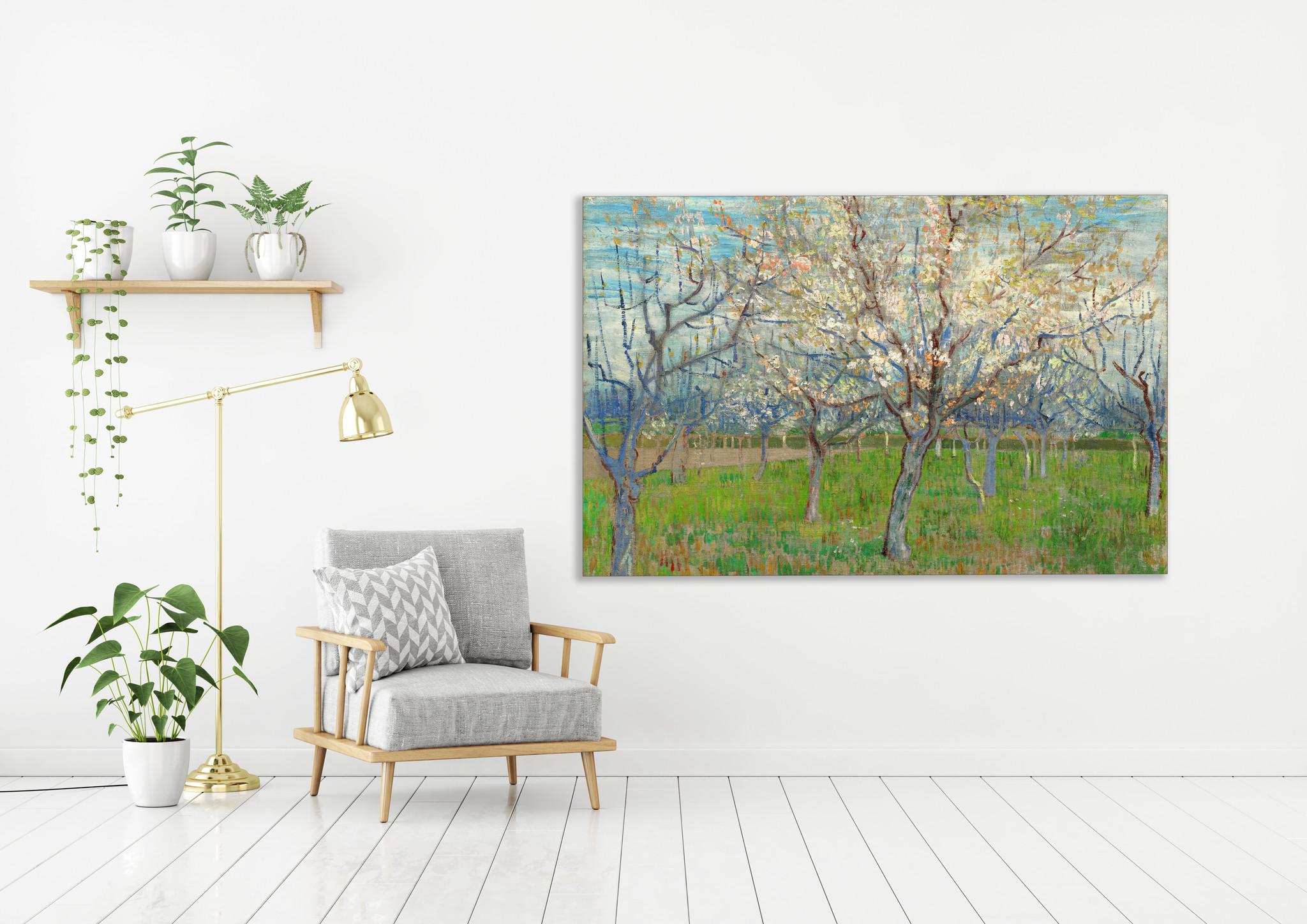 Roze Boomgaard - Van Gogh op Textieldoek.