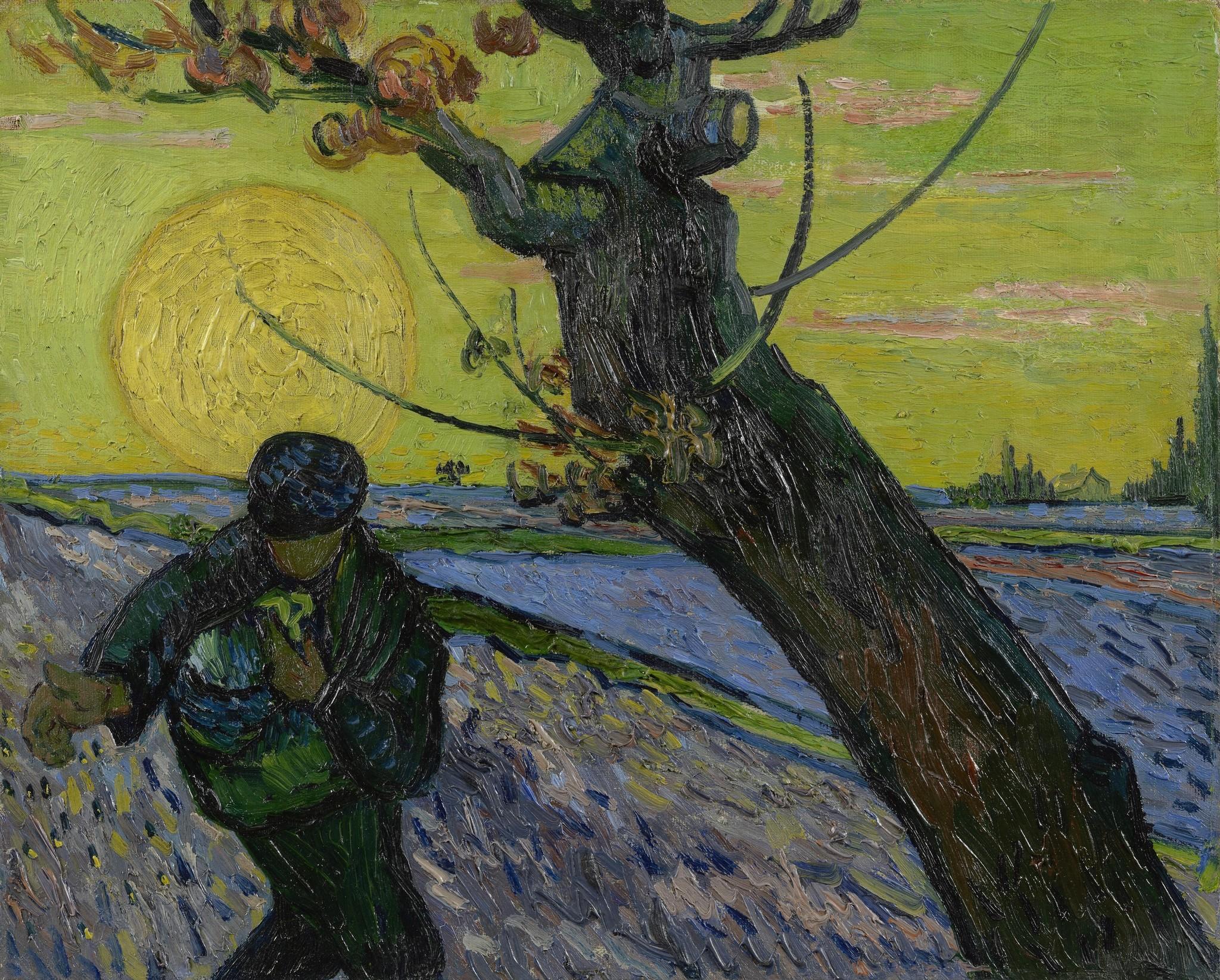 De Zaaier - Van Gogh op Plexiglas