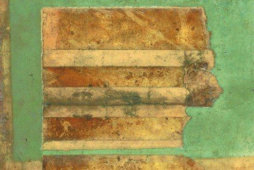 Flußteppich I | 100 x 74 cm | Natuurpapier (structuur)