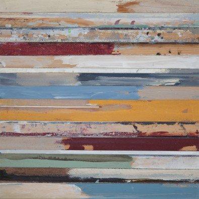 Mauerzeichen I | 90 x 90 cm | Natuurpapier (structuur)