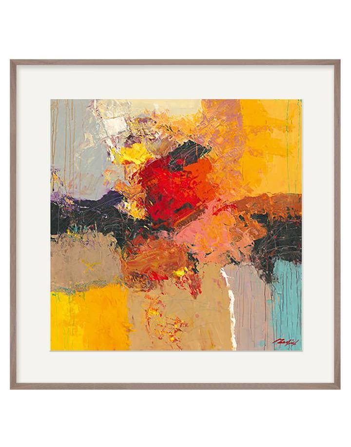 Abstract II | 90 x 90 cm | Natuurpapier (structuur)