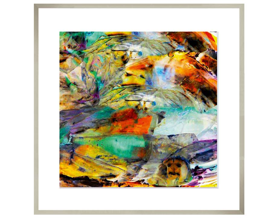 Haute Provence | 80 x 80 cm | Natuurpapier (structuur)
