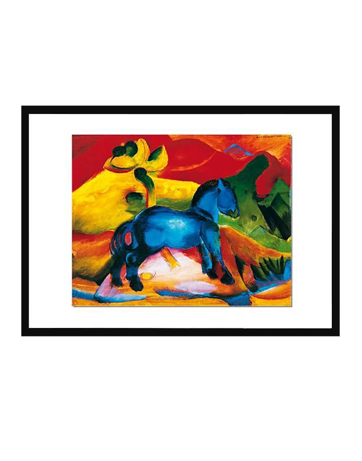 Het blauwe paard | 50 x 70 cm | Photo satin paper