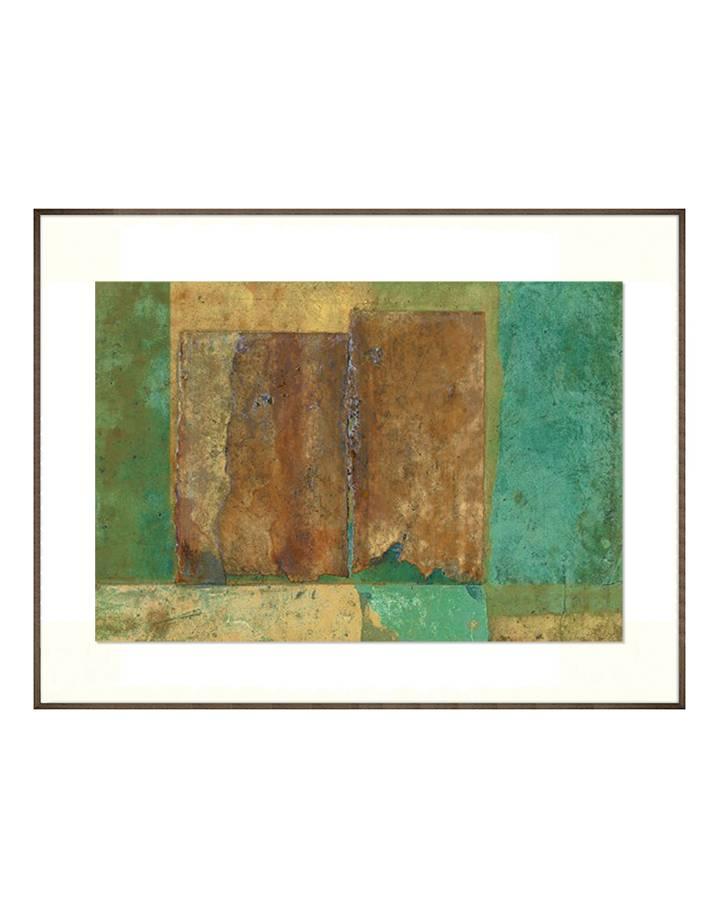 Flußteppich II | 100 x 74 cm | Natuur papier (structuur)