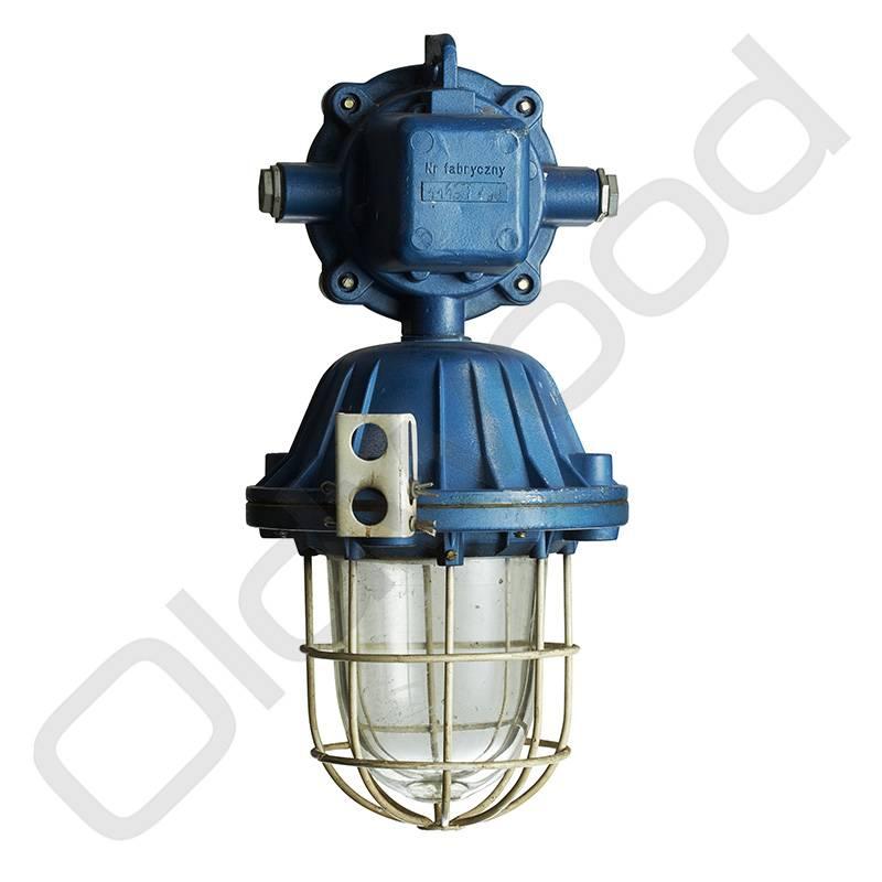 Industriële lampen - Bully pendant blauw