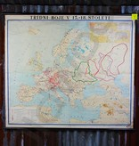 Vintage linen map of Europe