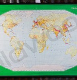 Vintage linen world map
