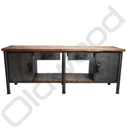 Industrieel meubel Industrial workbench / dresser