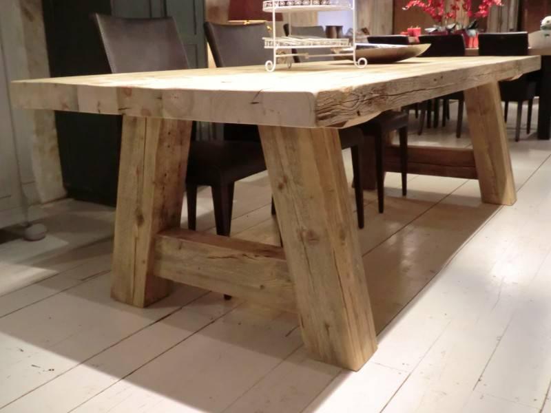 Grote Houten Tafels : Robuuste tafels milaan oldwood de woonwinkel oldwood de