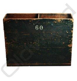 (Verkocht) Houten kist groen