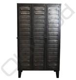 Industrial locker three-door