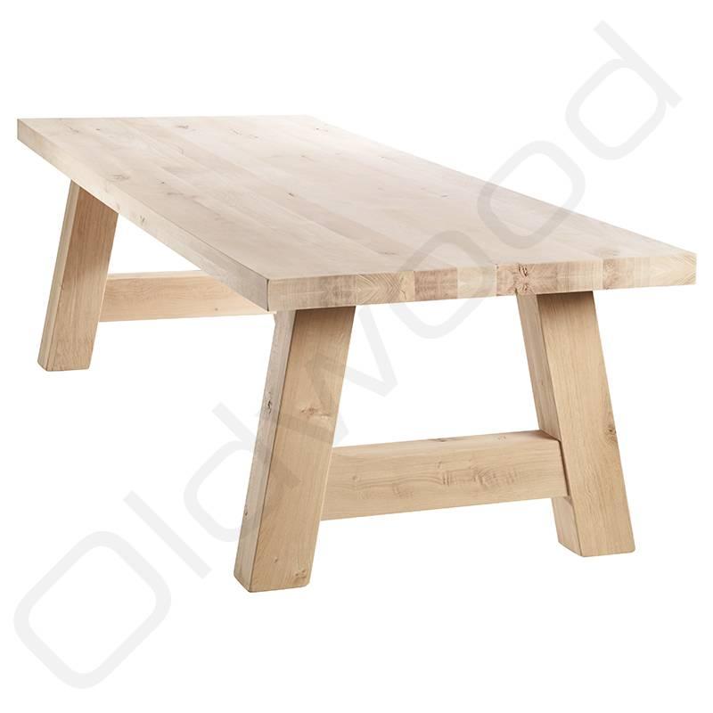 Eikenhouten Tafel 200 Cm.Robuuste Tafels Eiken Tafel Milaan Oldwood De Woonwinkel