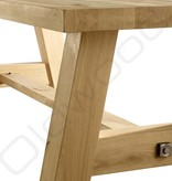Houten tafel Milaan met onderbalk