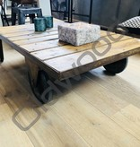 Tafel Industrial wooden trolley in the wash
