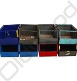Industrial metal storage bin