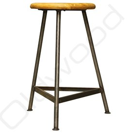 Industrial vintage studio stool
