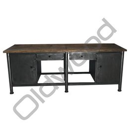 Industrieel meubel (Verkocht) Industriële werkbank