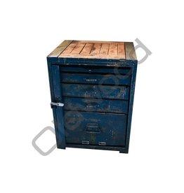 Industrieel meubel Blauwe dressoir/werkbank