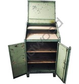 Industrieel meubel Groene klepkast