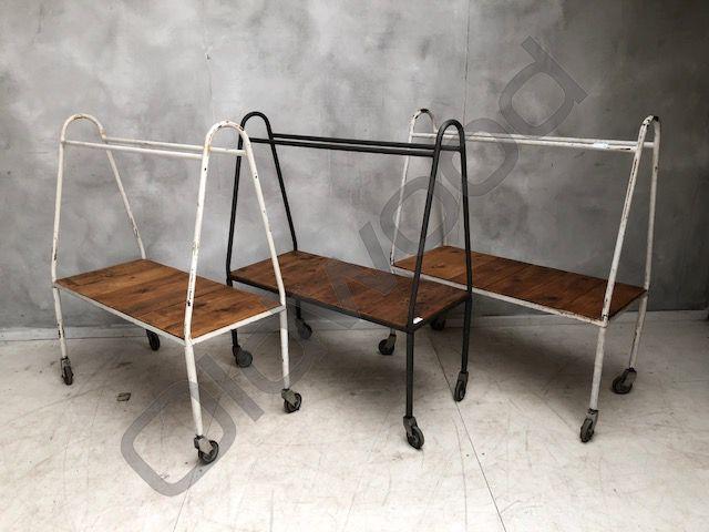 Industrieel meubel Industriële trolley kar