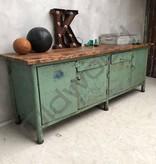 Industrieel meubel Groene dressoir