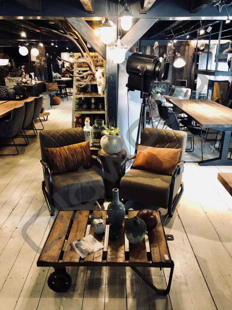 Fauteuil Coffeechair ranch - leather olive