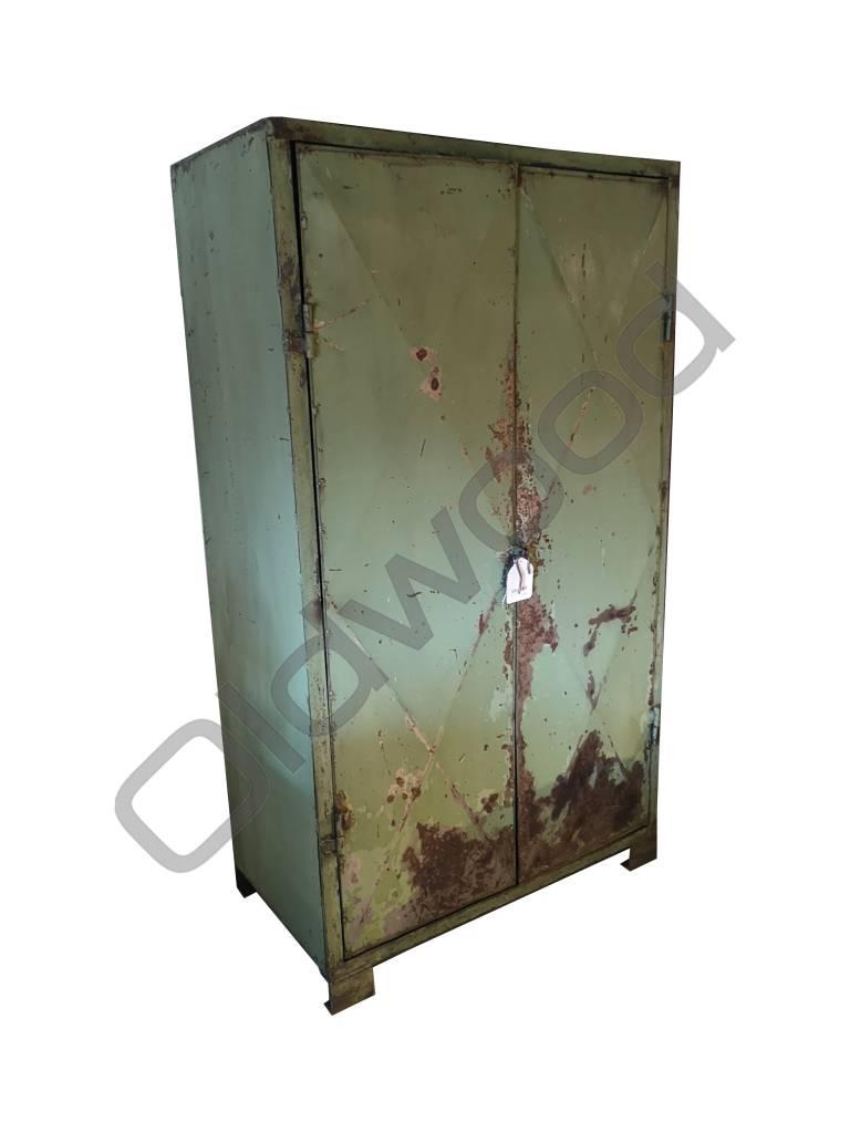 Industrieel meubel Stoere metalen locker
