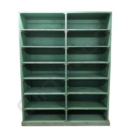 Industrieel meubel Green rack cupboard