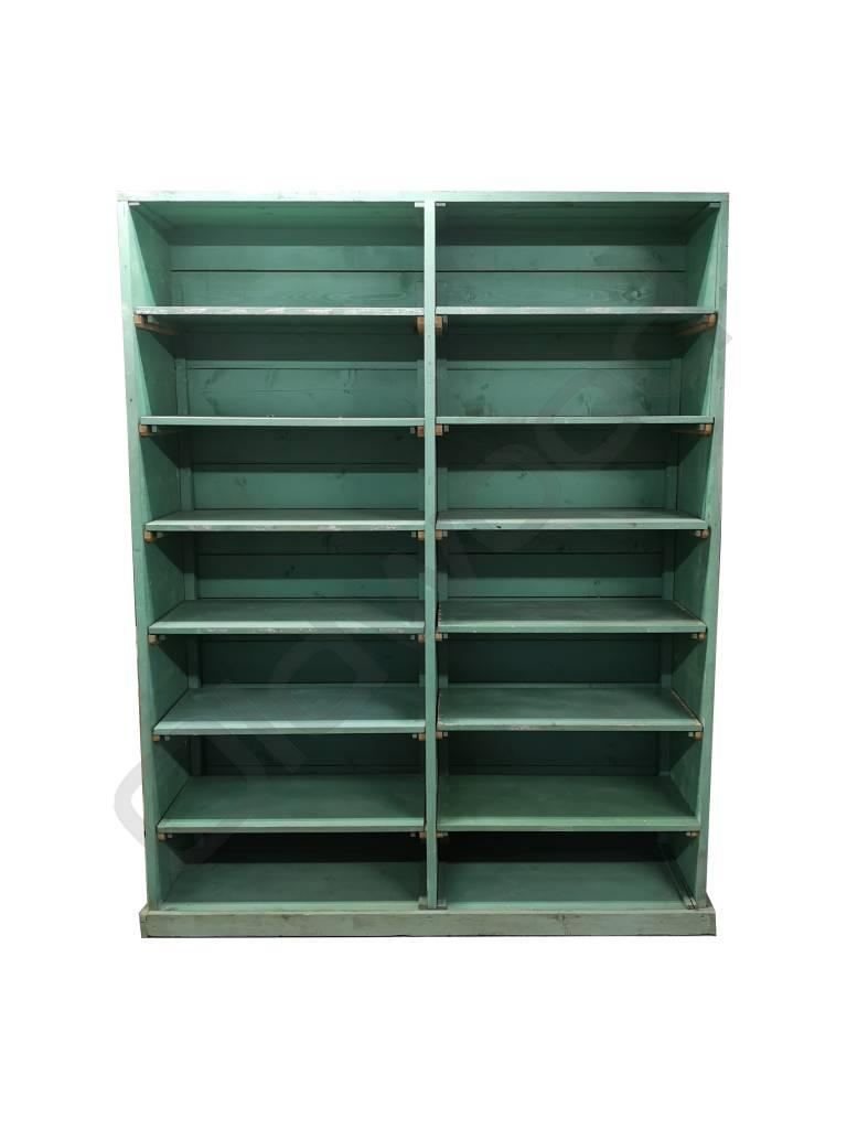 Industrieel meubel Green rack cupboard