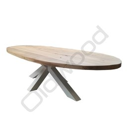 Tafel (Verkocht) Eiken houten tafel - Madrid