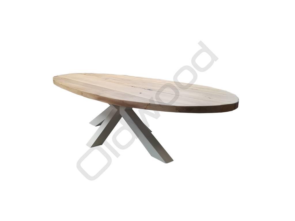 Eiken houten tafel madrid oldwood de woonwinkel oldwood