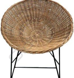 Industrieel meubel Rotan kuipstoel