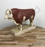 Industrieel accessoire dierenbeelden gips vintage