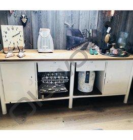 Industrieel meubel Werkbank wit gepoedercoat