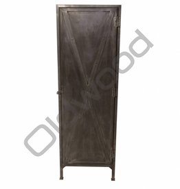 Industrieel meubel Stoere metalen eendeurskast